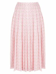 Victoria Beckham pleated jacquard skirt - PINK