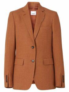 Burberry Wool, Silk and Cotton Blazer - Brown