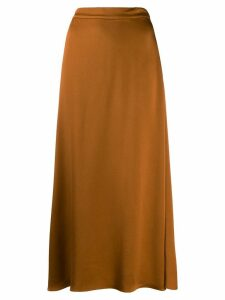 Vanessa Bruno satin midi skirt - Brown