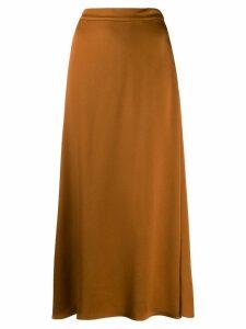 Vanessa Bruno satin midi skirt - Brown