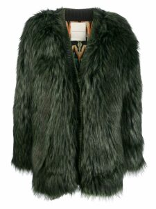 Marco De Vincenzo faux fur coat - Green