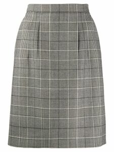 Gucci check pattern A-line skirt - Grey