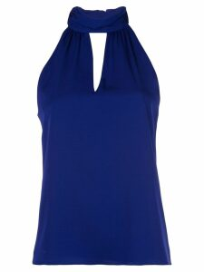 Milly key-hole neck blouse - Blue