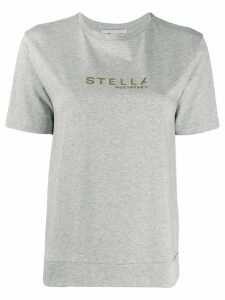 Stella McCartney logo print T-shirt - Grey
