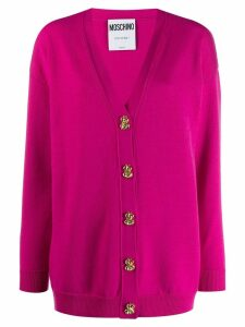 Moschino dollar buttons cardigan - Pink