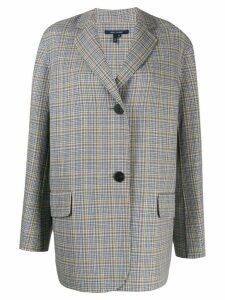 Sofie D'hoore oversized check blazer - Grey