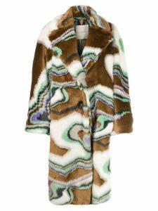 Marco De Vincenzo faux fur coat - Brown