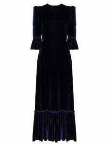 The Vampire's Wife Festival velvet maxi dress - Blue