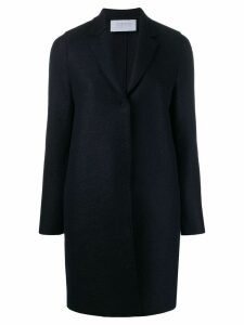 Harrys of London lightly mottled single breasted coat - Blue
