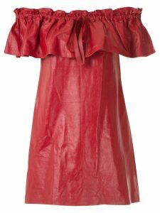 Andrea Bogosian leather short dress - Red