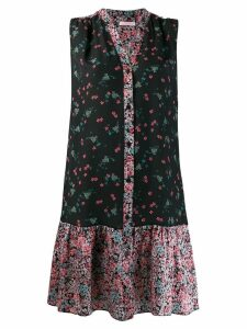 Kristina Ti floral print shirt dress - Black