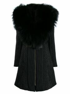 Philipp Plein long statement coat - Black