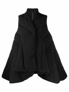 Rick Owens Lilies padded draped style coat - Black