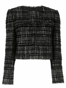 Paule Ka tweed check blazer - Black