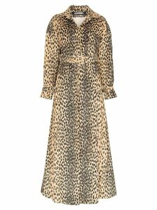 Jacquemus leopard print belted trench coat - Brown