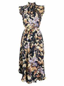 Zimmermann floral sleeveless shirt dress - Blue