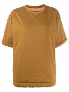 Mm6 Maison Margiela oversized padded shirt - Brown