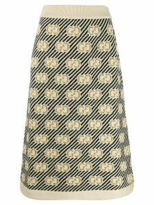 Gucci GG stripe wool jacquard skirt - Neutrals