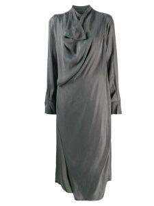 Low Classic draped detail midi dress - Green