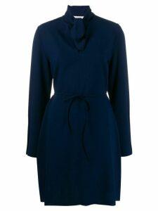 See By Chloé tie-neck shift dress - Blue
