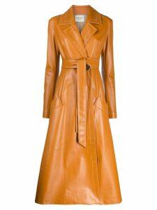 A.W.A.K.E. Mode belted wrap coat - Orange