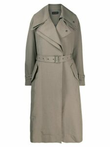 Low Classic belted cotton blend raincoat - Green