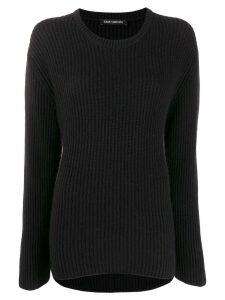 Iris Von Arnim crew-neck knit sweater - Black