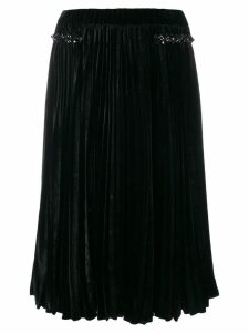 Nº21 pleated flared skirt - Black