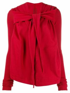 Rick Owens DRKSHDW knot detail top - Red