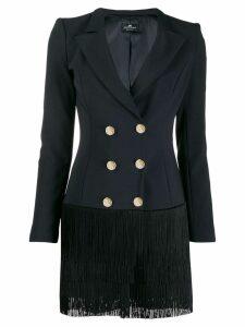 Elisabetta Franchi fringed blazer dress - Black