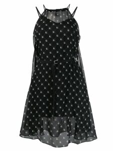 Diesel belted print dress - Black