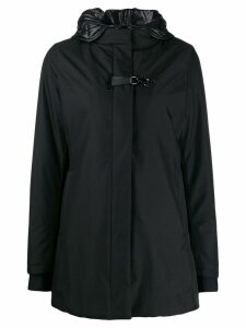 Fay layered hooded coat - Black