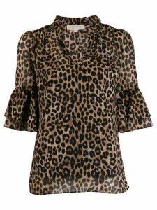 Michael Michael Kors animal print blouse - Brown