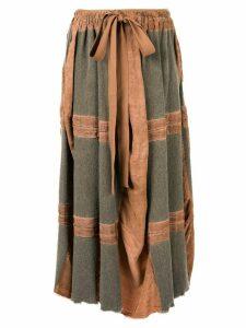 Uma Wang tie waist skirt - Brown