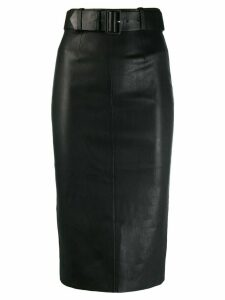 Stouls high-waist fitted skirt - Black