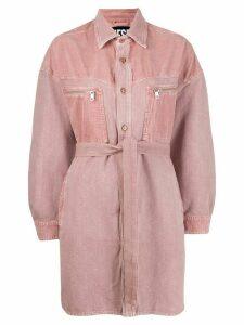 Diesel belted denim dress - Pink