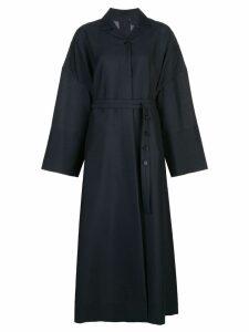 Jil Sander Libby belted coat - Blue