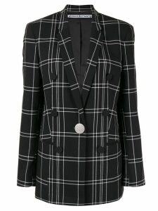 Alexander Wang loose-fit plaid blazer - Black