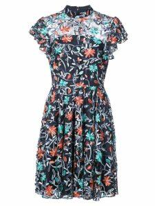 Zac Zac Posen floral printed flared dress - Blue