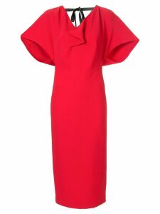 Roland Mouret Marianne midi dress - Red