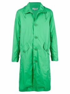 Opening Ceremony hooded trench coat - Green
