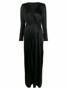 Federica Tosi wrap style front dress - Black