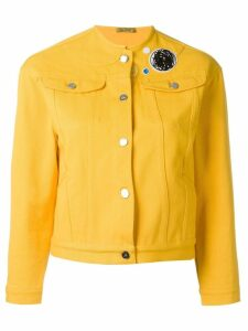 Peter Jensen collarless denim jacket - Yellow