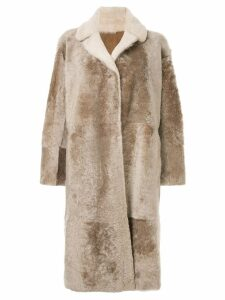 Sylvie Schimmel single-breasted coat - BEIGe
