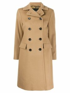 Paltò double breasted fitted coat - Brown