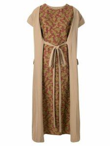 Uma Wang tie waist dress - Brown