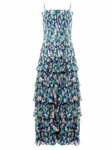 Amur Viola pleated ruffle dress - Blue