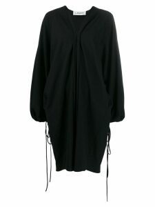 LANVIN oversized v-neck dress - Black