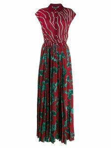 Just Cavalli pleated shirt dress - Red