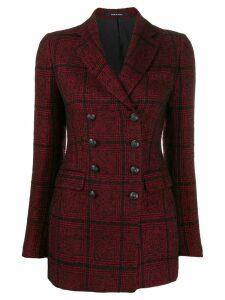 Tagliatore woven checked blazer - Red